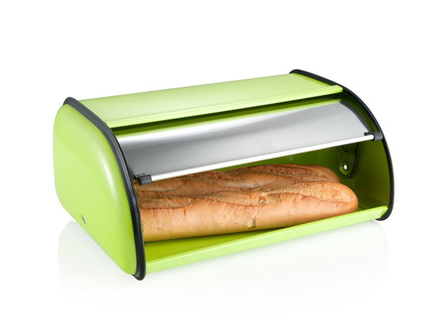photo of 'Brandani Gift Group: GREEN RETRO BREAD BIN ENAMEL/STAINLESS STEEL'