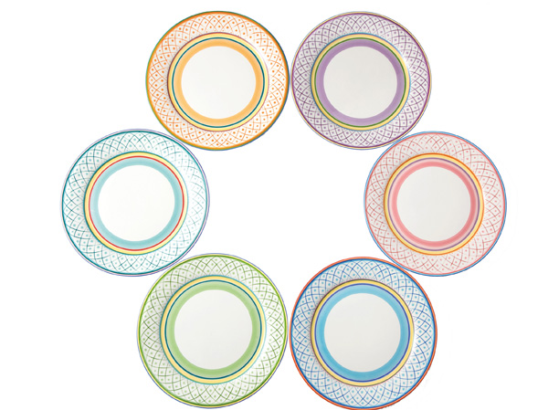 SUNFLOWER 6 PCS DINNER PLATE SET IRONSTONE