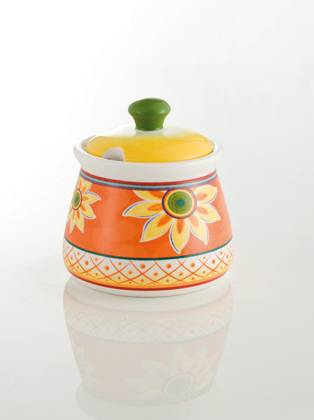 photo of 'Brandani Gift Group: SUNFLOWER SUGAR BOWL IRONSTONE'