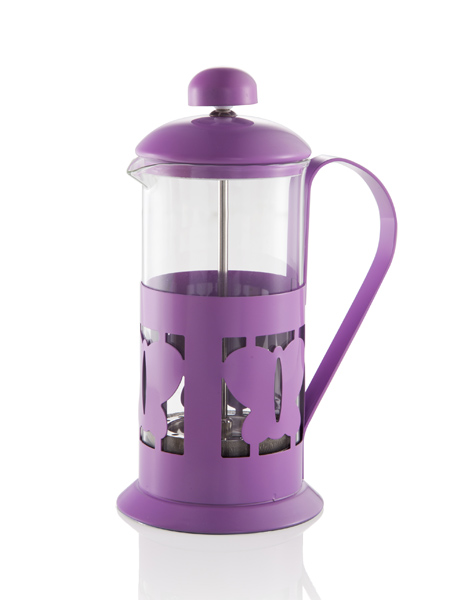 LILAC BUTTERFLY TISANE POT 350CC GLASS/SS