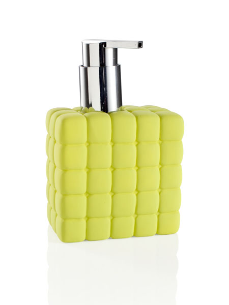 450ML THOUSAND CUBES GREEN SOAP DISPENSER SILICON PORCELAIN