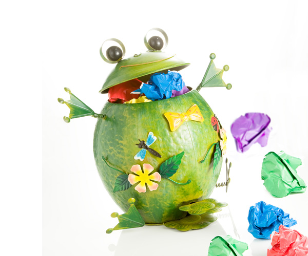photo of 'Brandani Gift Group: FROG METAL WASTE BIN'