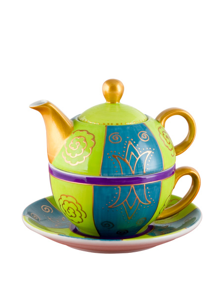 photo of 'Brandani Gift Group: TEIERA CON TAZZA VERDE PORCELLANA'