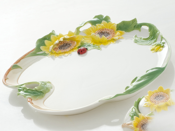 SUNFLOWER PORCELAIN TRAY